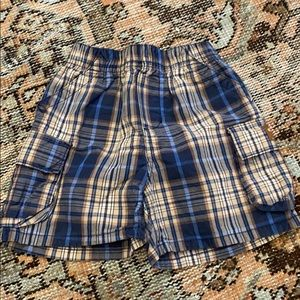Vintage OshKosh plaid boys shorts SZ 18m